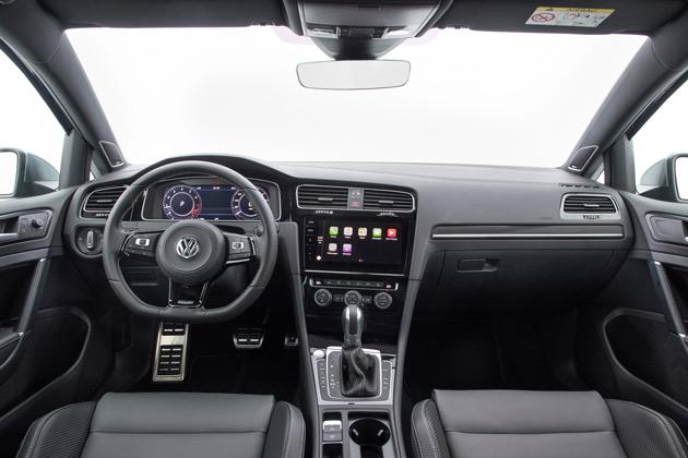 The plush interior of the VW Golf