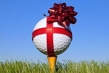 Christmas golf ball