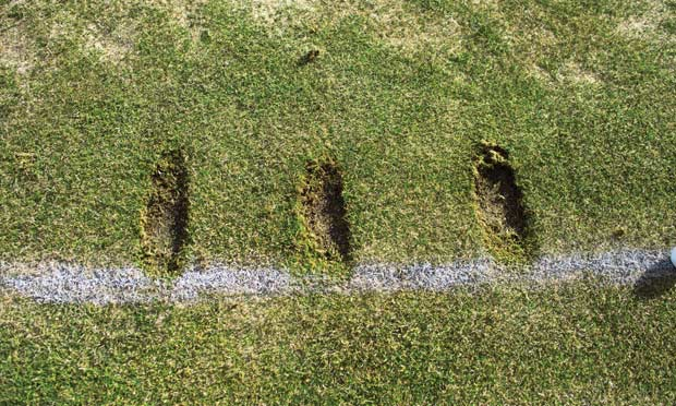Results: pay attention to the direction and depth of your iron divots.