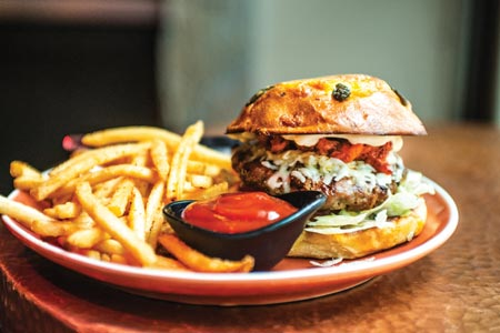 Chorizo shrimp burger - Otra Vez Cantina