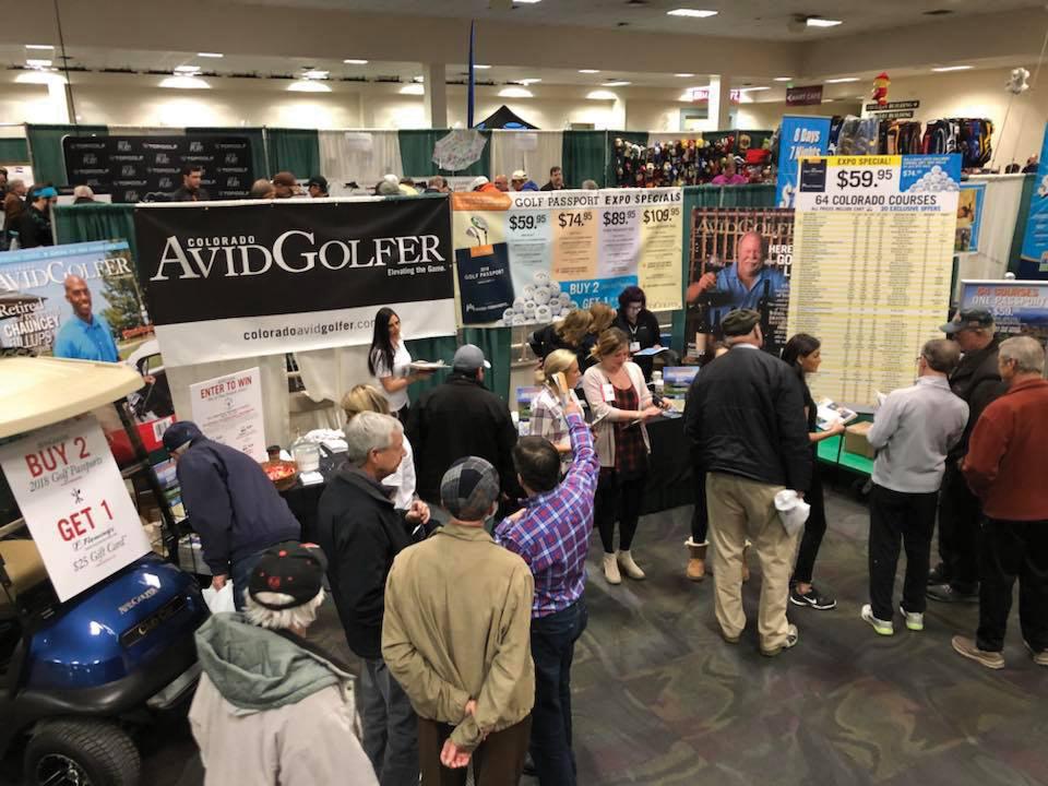 Colorado AvidGolfer booth at the Denver Golf Expo