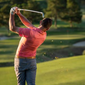 Increase iron distance and accuracy by following through