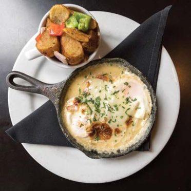 The Cup Café's cast-iron baked eggs