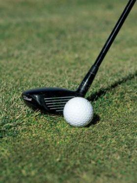 Hybrid golf club from the rough 2