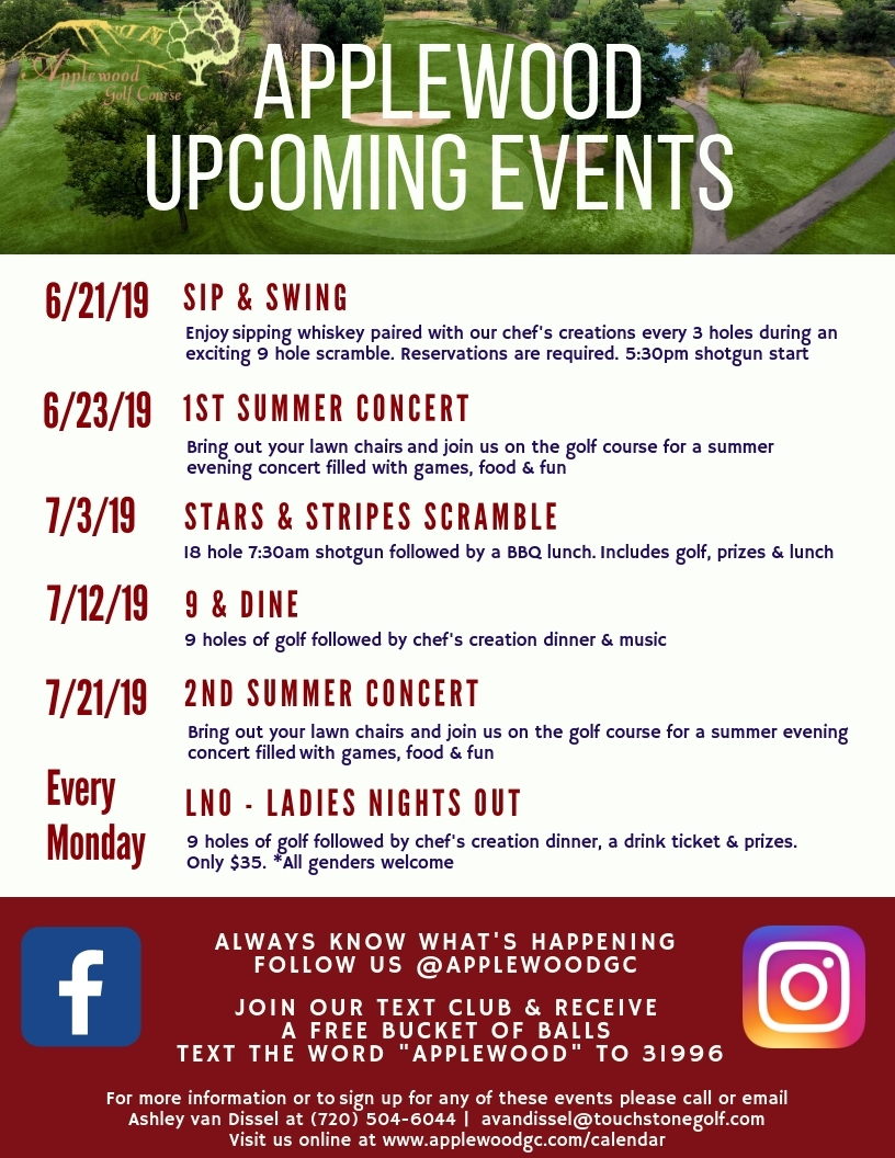 Applewood Upcoming Events (2)