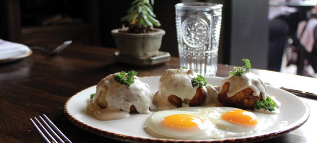 Julep's Butter Milk Biscuits and Sausage Gravy