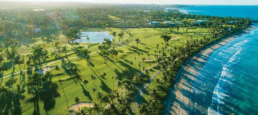 PALMS FOR THE TOUR: TPC Dorado Beach's East Course hugs the shoreline.