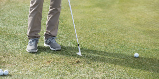 Learn to deal with bad shots on the course, like flubbed chips.