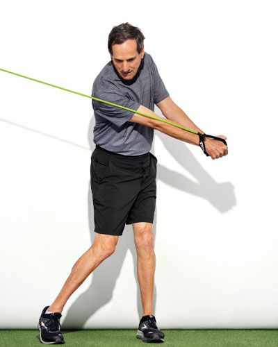 Golf Posture Chop exercise