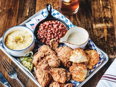 CRISPY GOODNESS: Julep's Fried Chicken.