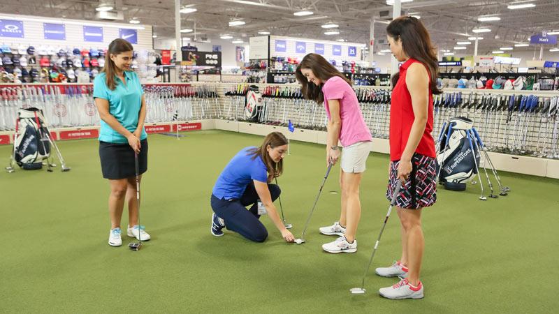 PGA TOUR Superstore, women's putting clinic