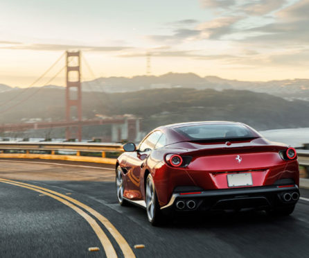 Ferrari Portofino takes a turn in San Fransisco