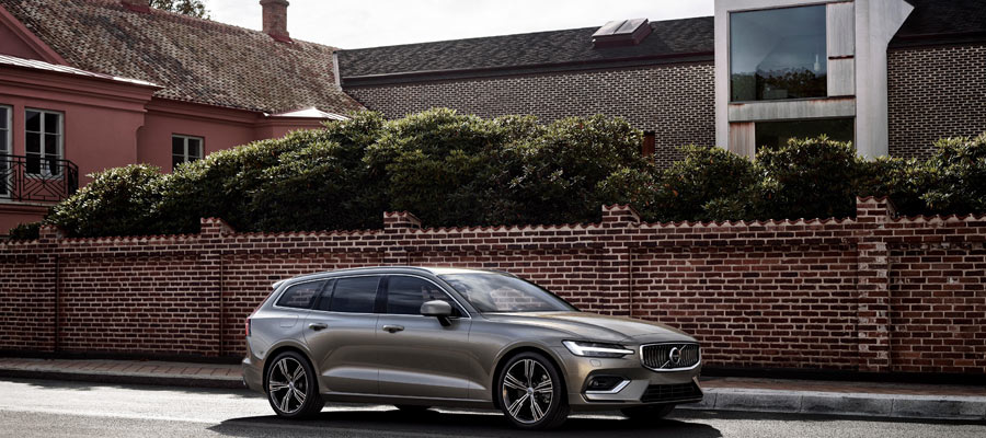2019 Volvo V60 driving down the road