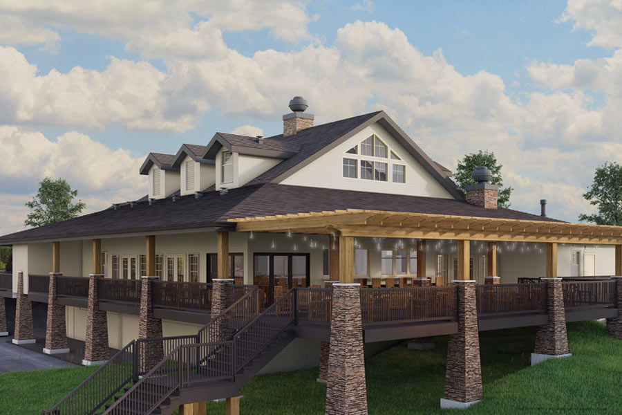 BUILDING UP: The public Ebert's restaurant and private Oakwood Life Club share GVR's new digs.