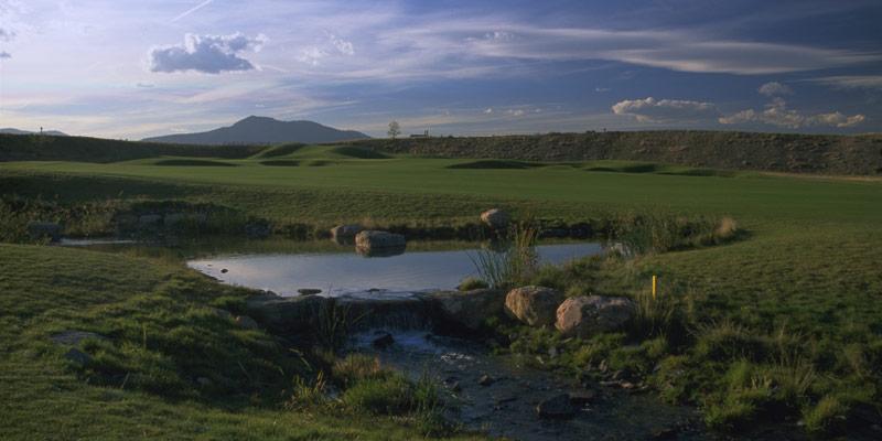 A creek flows through Homestead Golf Course