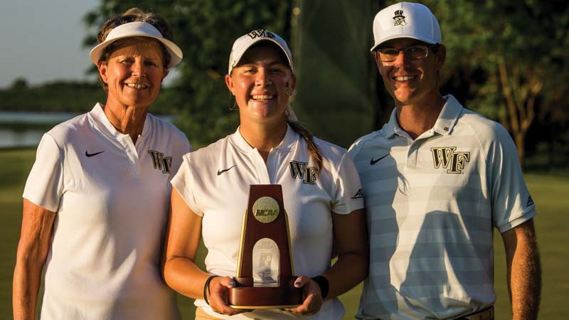 NCAA CHAMP: With coaches Dianne Dailey and Ryan Potter.