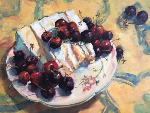 Nancy Haley's painting of Cherry Pie