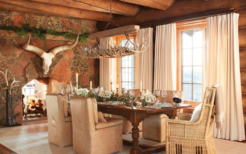 Dining Room at Seven Lakes Ranch