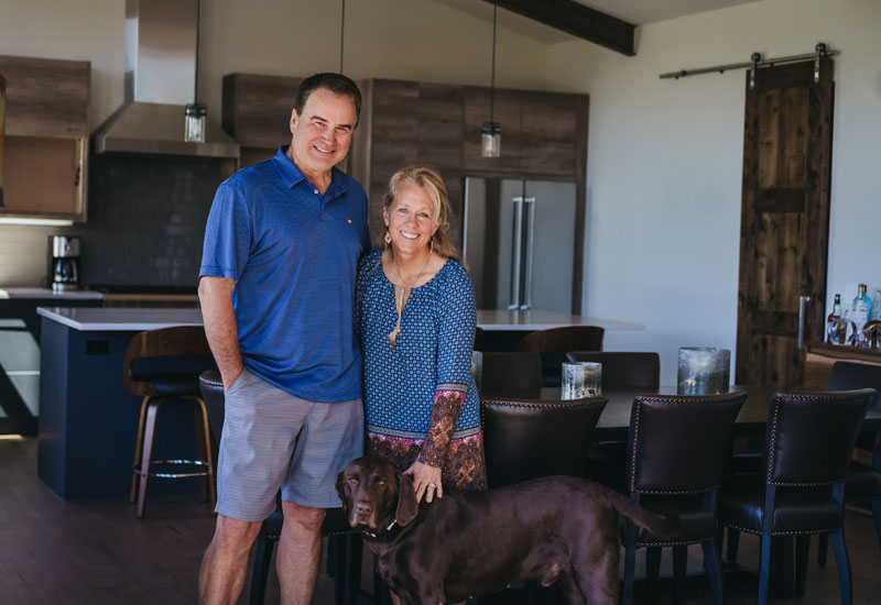 The Benemanns at their Frost Creek home.
