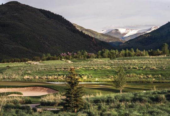 Nestled in the Rocky Mountains near Eagle, Vail.