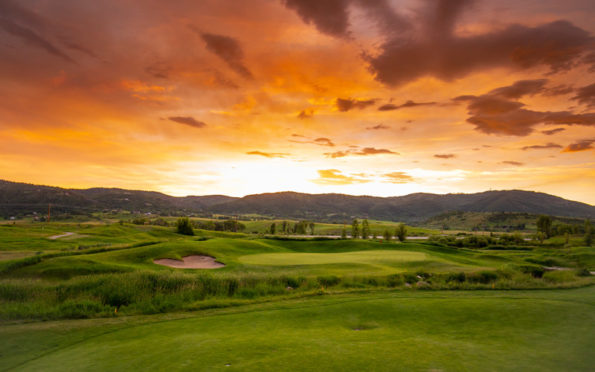 Haymaker Golf Course sunset - Steamboat Springs, Colorado