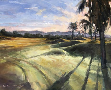 Nancy Haley's golf course painting