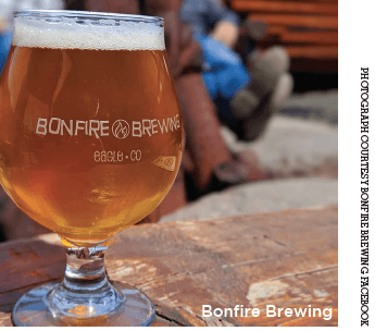 A brew from Bonfire Brewing in Vail Valley