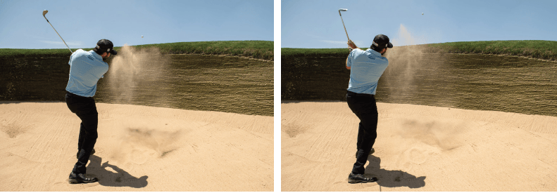 How to follow-through after hitting the ball out of the sand