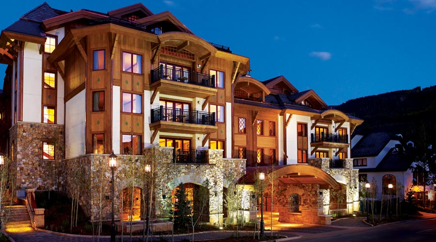 The Sebastian at night - Vail, Village