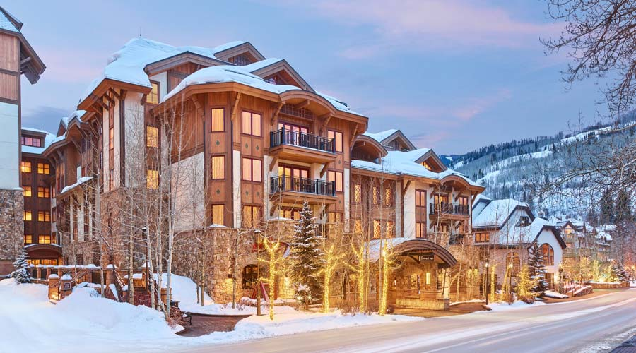 The Sebastian in the snow - Vail, Colorado