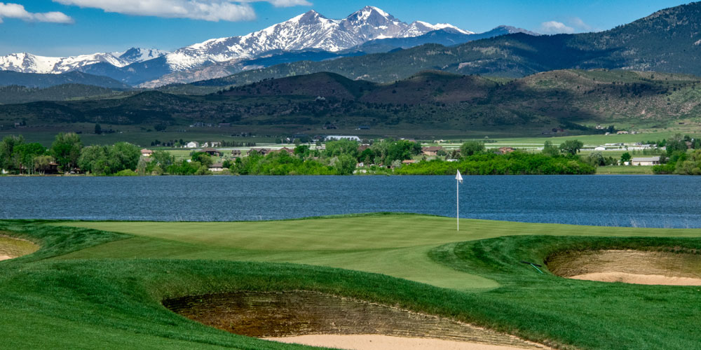 TPC Colorado with snow-capped peaks in the background