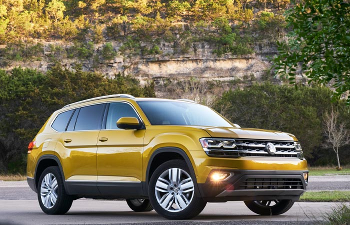 Yellow 2019 Volkswagen Atlas