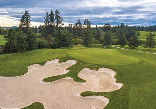 Circling Raven Golf Club in the Coeur d''Alene region of Idaho.
