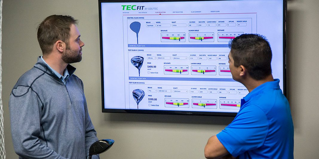 Club fitting at GOLFTEC