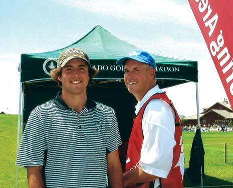 Mark Hubbard in his junior golf dates