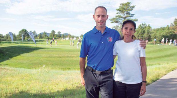 Army veteran Steven Klimtczak and his mother.