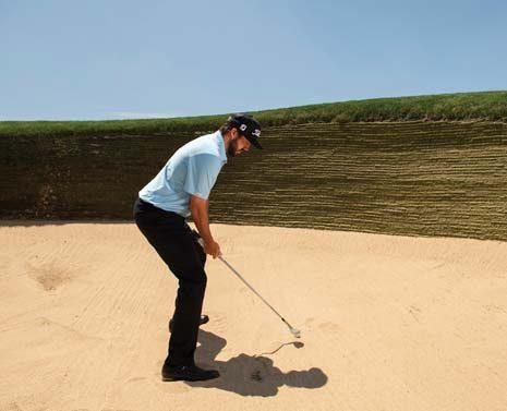 Mark Hubbard bunker shot lesson, step 1
